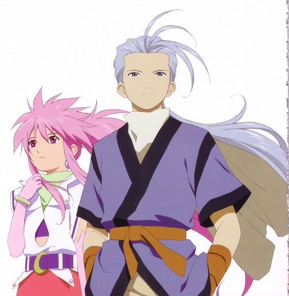 Tags: Anime, Tales of Phantasia, Chester Barklight, Arche Klein, Scan, Official Art