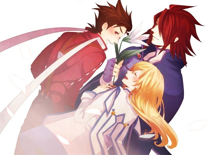 Tags: Anime, 9632 (Artist), Tales of Symphonia, Colette Brunel, Lloyd Irving, Kratos Aurion, Tales Of Symphonia: Dawn Of The New World