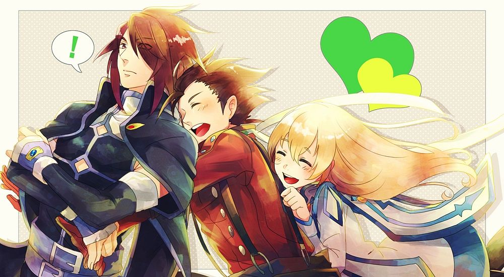 Tags: Anime, 9632 (Artist), Tales of Symphonia, Colette Brunel, Lloyd Irving, Kratos Aurion, Facebook Cover, Tales Of Symphonia: Dawn Of The New World