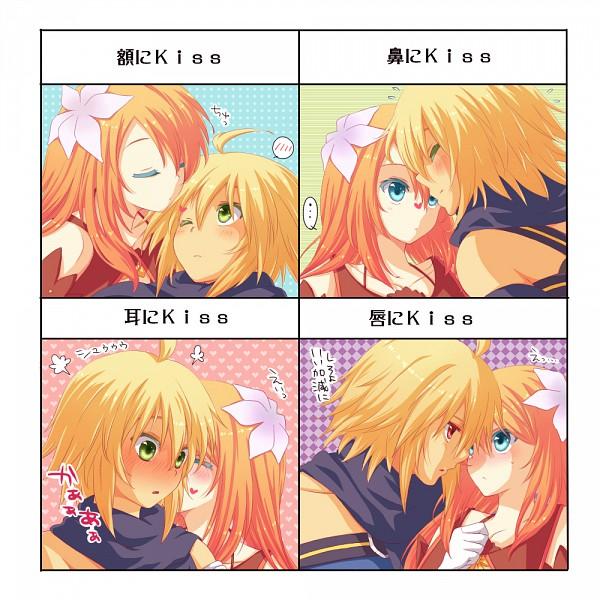 Tags: Anime, Kai Aki, Tales of Symphonia, Emil Castagnier, Marta Lualdi, Kiss Chart, Kiss on the Head, Fanart, Tales Of Symphonia: Dawn Of The New World