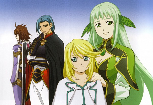 Tags: Anime, ufotable, Tales of Symphonia, Mithos Yggdrasill, Kratos Aurion, Martel Yggdrasill, Yuan Ka-Fai, Official Art, Scan, Tales Of Symphonia: Dawn Of The New World
