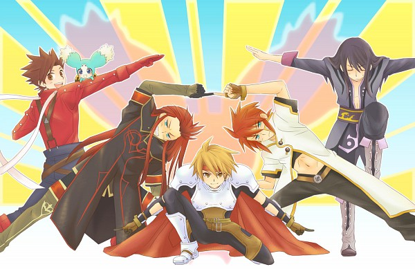 Tags: Anime, Ebimayo, Namco, DRAGON BALL, Tales of the Abyss, Tales of Vesperia, Tales of Phantasia, Tales of Symphonia, Lloyd Irving, Yuri Lowell, Asch the Bloody, Mieu (Tales of the Abyss), Luke fon Fabre, Tales Of Symphonia: Dawn Of The New World