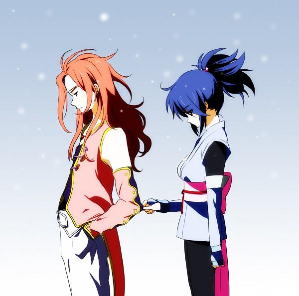 Tags: Anime, Yui (Rogusouku), Tales of Symphonia, Zelos Wilder, Sheena Fujibayashi, Fanart, Tales Of Symphonia: Dawn Of The New World