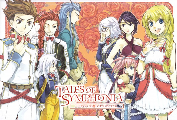 Tags: Anime, Hitoshi Ichimura, Tales of Symphonia, Lloyd Irving, Genis Sage, Colette Brunel, Regal Bryant, Sheena Fujibayashi, Zelos Wilder, Presea Combatir, Raine Sage, Official Art, Tales Of Symphonia: Dawn Of The New World