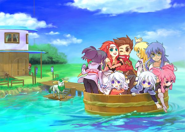 Tags: Anime, Apple-boy, Tales of Symphonia, Genis Sage, Kratos Aurion, Noishe, Colette Brunel, Regal Bryant, Sheena Fujibayashi, Zelos Wilder, Presea Combatir, Raine Sage, Lloyd Irving, Tales Of Symphonia: Dawn Of The New World