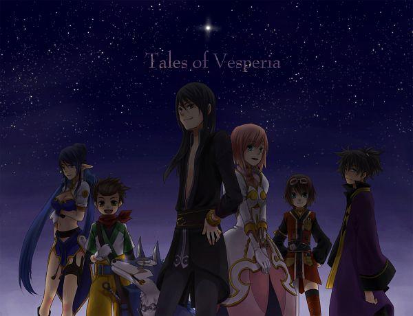 Tags: Anime, Shigeru Yoshi, Tales of Vesperia, Raven (Tales of Vesperia), Repede, Yuri Lowell, Karol Capel, Rita Mordio, Judith (Tales of Vesperia), Estellise Sidos Heurassein