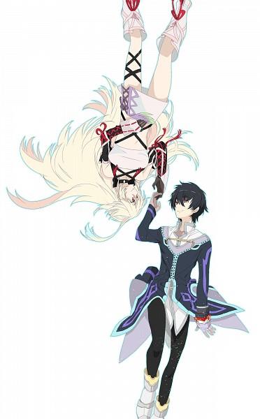 Tags: Anime, Okazaki Oka, Tales of Xillia, Jude Mathis, Milla Maxwell, Mobile Wallpaper, Pixiv, Fanart