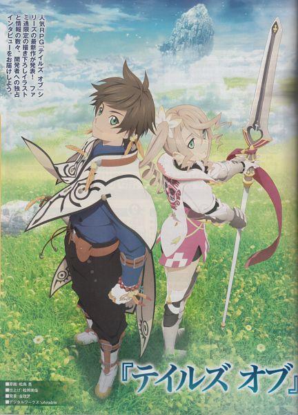 Tags: Anime, ufotable, Namco, Tales of Zestiria, Alisha Diefda, Sorey (Tales of Zestiria), Mobile Wallpaper, Official Art, Scan