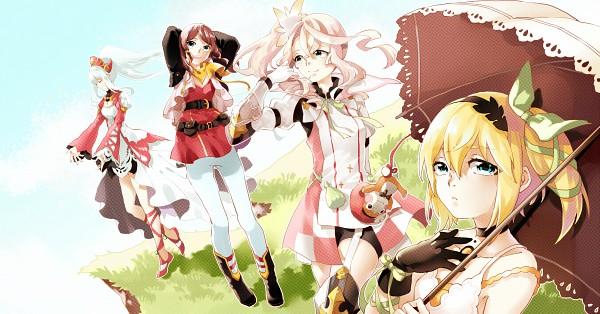 Tags: Anime, Pixiv Id 11290531, Tales of Zestiria, Rose (Tales of Zestiria), Lailah (Tales of Zestiria), Edna (Tales of Zestiria), Alisha Diefda, Fanart From Pixiv, Pixiv, Wallpaper, Fanart