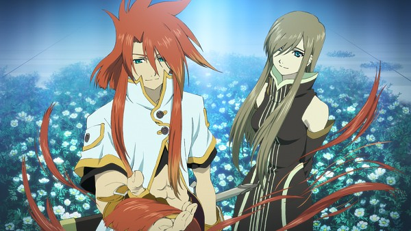 Tags: Anime, Bandai Namco Entertainment, Tales of the Rays, Luke fon Fabre, Tear Grants, Wallpaper, Official Art
