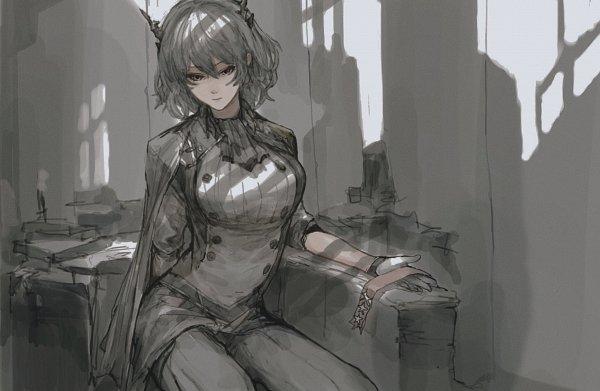 Tags: Anime, Pixiv Id 27730763, Arknights, Talulah, Gray, Pixiv, Fanart, Fanart From Pixiv