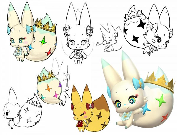 Tags: Anime, Nomura Tetsuya, SQUARE ENIX, World of Final Fantasy, Tama (WOFF), Official Art