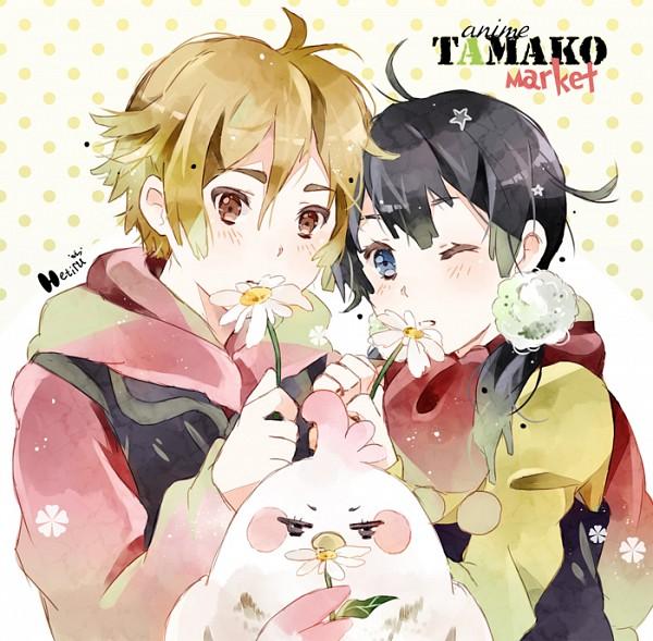 Tags: Anime, Hetiru, Tamako Market, Ooji Mochizou, Dera Mochimazzi, Kitashirakawa Tamako, Fanart From DeviantART, deviantART, Fanart