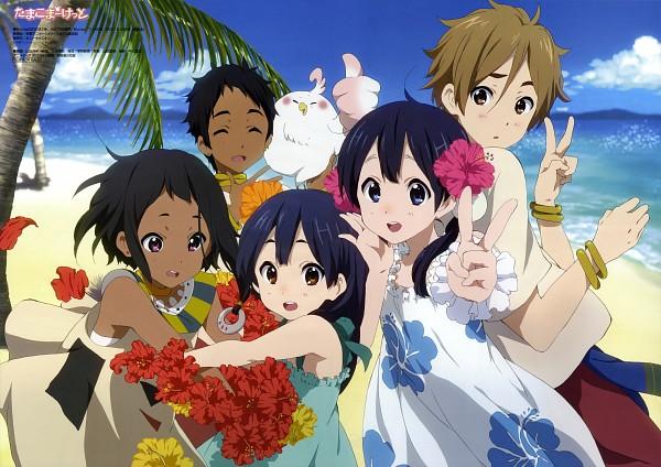 Tags: Anime, Kyoto Animation, Tamako Market, Dera Mochimazzi, Kitashirakawa Anko, Mecha Mochimazzi, Kitashirakawa Tamako, Choi Mochimazzi, Ooji Mochizou, Official Art, Scan