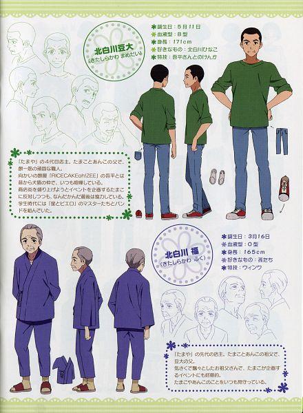 Tags: Anime, Kyoto Animation, Tamako Market, Kitashirakawa Fuku, Kitashirakawa Mamedai, Official Art, Scan