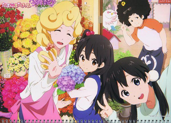 Tags: Anime, Kyoto Animation, Tamako Market, Tamako Market Calendar 2014, Dera Mochimazzi, Kitashirakawa Anko, Kitashirakawa Tamako, Shimizu Tomio, Hanase Kaoru, Official Art, Scan, Calendar 2014