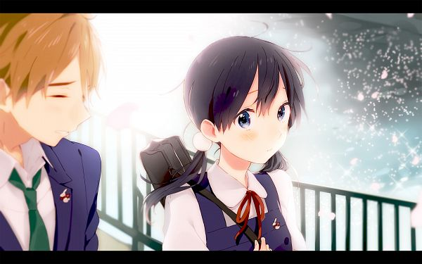 Tags: Anime, Momose (oqo), Tamako Market, Ooji Mochizou, Kitashirakawa Tamako, PNG Conversion, Wallpaper
