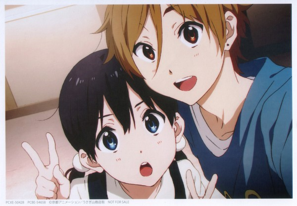 Tags: Anime, Kyoto Animation, Tamako Market, Ooji Mochizou, Kitashirakawa Tamako, Official Art, Self Scanned, Scan