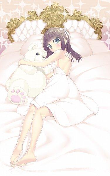 Tags: Anime, Pixiv Id 11049395, Tamura Yukari (Character), Hugging Toy, Fanart, Fanart From Pixiv, Pixiv