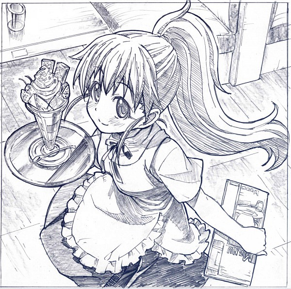 Tags: Anime, Sakino Shingetsu, Working!!, Taneshima Popura, Pixiv