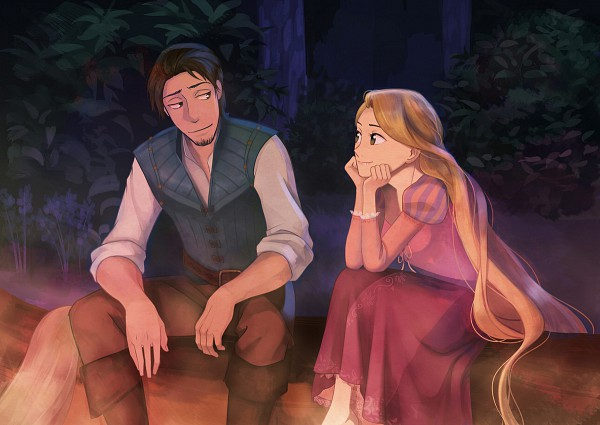 Tags: Anime, Uga, Rapunzel, Tangled (Disney), Flynn Rider (Eugene Fitzherbert), Rapunzel (Character), Rapunzel (Tangled), Disney, Fanart