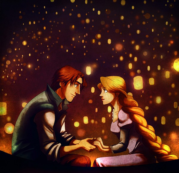 Tags: Anime, Nadiezda, Pixiv Id 1693398, Rapunzel, Tangled (Disney), Flynn Rider (Eugene Fitzherbert), Rapunzel (Tangled), Rapunzel (Character), Sky Lanterns, Paper Lantern, I See The Light, Disney, Fanart