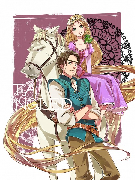 Tags: Anime, Zoff, Rapunzel, Tangled (Disney), Flynn Rider (Eugene Fitzherbert), Rapunzel (Tangled), Rapunzel (Character), Maximus, Pascal (Tangled), Lizard, Pixiv, Disney, Fanart