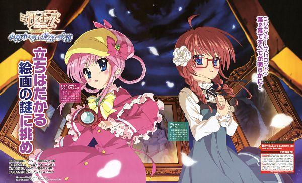 Tags: Anime, Iguchi Mariko, J.C.STAFF, Tantei Opera Milky Holmes, Lily Adler, Sherlock Shellingford, Wallpaper, Official Art, Scan