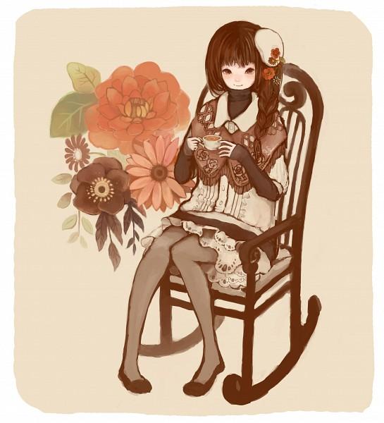 Tags: Anime, Tanutanu, Rocking Chair, Pixiv, Original, PNG Conversion