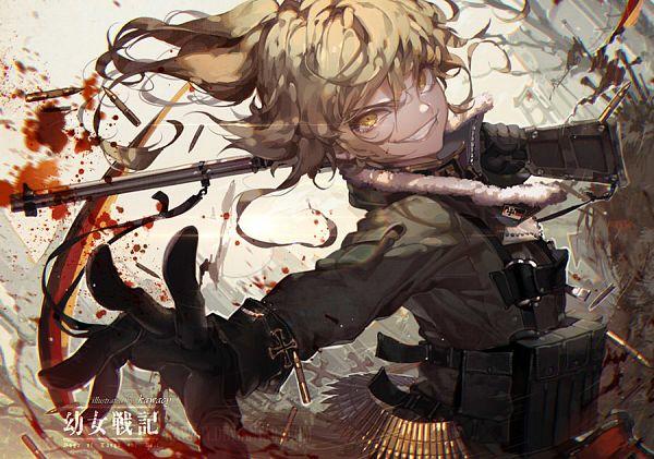 Tags: Anime, kawacy, Youjo Senki, Tanya Degurechaff, Bullets, Fanart From DeviantART, deviantART, Fanart