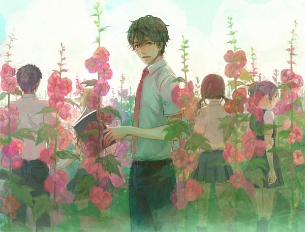Tags: Anime, Ashinomoto, Tari Tari, Miyamoto Konatsu, Okita Sawa, Sakai Wakana, Maeda Atsuhiro, Tanaka Taichi, Hollyhock, Fanart From Pixiv, Pixiv, Fanart