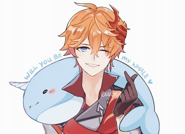 Tags: Anime, kuurimu, Genshin Impact, Tartaglia, Whale, Pixiv, Fanart, Fanart From Pixiv