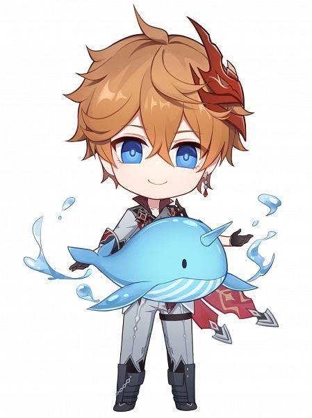 Tags: Anime, Pixiv Id 3990473, Genshin Impact, Tartaglia, Whale
