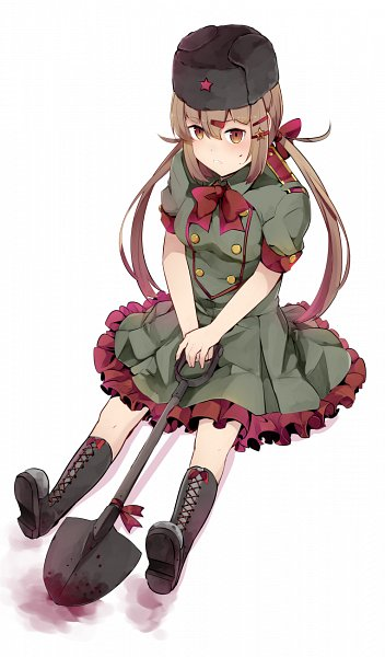 Tags: Anime, Ido (Pixiv Id 1101145), Kantai Collection, Tashkent (Kantai Collection), Communism, Shovel, Pixiv, Fanart, Fanart From Pixiv