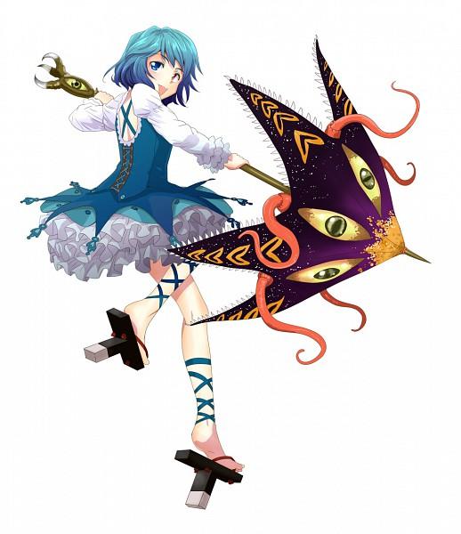 Tags: Anime, Tsurui, Kneepits, Laced Up, Kogasa Tatara