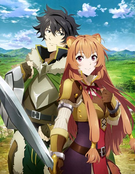 Tags: Anime, Kinema Citrus, Tate no Yuusha no Nariagari, Raphtalia, Iwatani Naofumi, Official Art, Scan, The Rising Of The Shield Hero