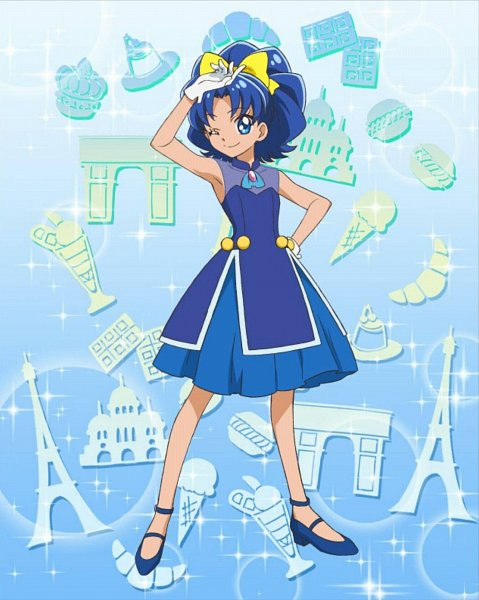 Tags: Anime, Kirakira☆Precure a la Mode, Precure Tsunagaru Puzzlun, Tategami Aoi, Official Art