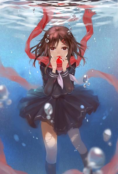 Tags: Anime, Pixiv Id 5529284, Kagerou Project, Tateyama Ayano, Water Reflection, Pixiv, Fanart, Fanart From Pixiv, Mobile Wallpaper