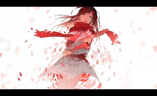Tags: Anime, Tang Elen, Kagerou Project, Tateyama Ayano, Gray Neckwear, Gray Skirt, Fanart, Fanart From Pixiv, PNG Conversion, Pixiv