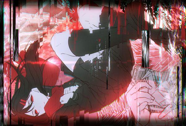 Tags: Anime, Pixiv Id 12538564, Kagerou Project, Tateyama Ayano, Floating Scarf, Origami, Pixiv, Fanart, Fanart From Pixiv