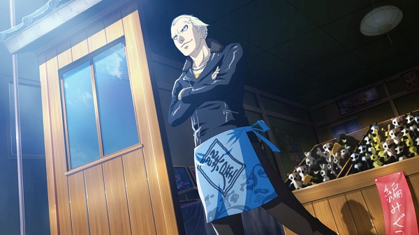 Tags: Anime, Persona 4: The Ultimate In Mayonaka Arena, Shin Megami Tensei: PERSONA 4, Tatsumi Kanji, Leather Jacket, Stuffed Panda, Facebook Cover, CG Art