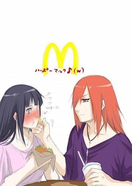 Tags: Anime, Kazari Tayu, NARUTO, Hyuuga Hinata, Tayuya, Fast Food, McDonald's Meal, Mobile Wallpaper, Fanart, TayuHina