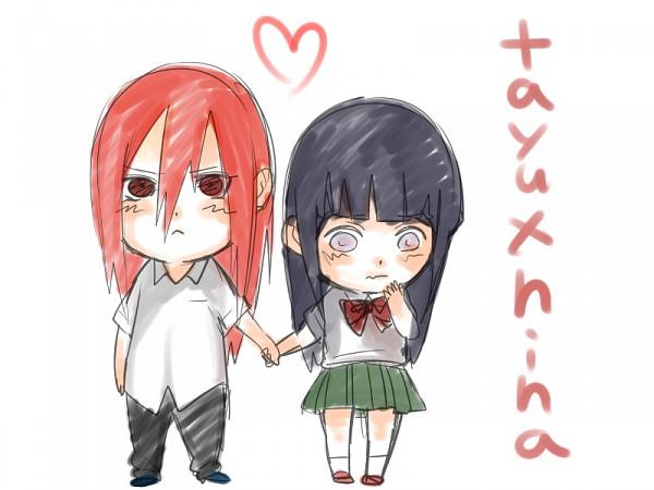 Tags: Anime, Kazari Tayu, NARUTO, Tayuya, Hyuuga Hinata, Fanart, TayuHina