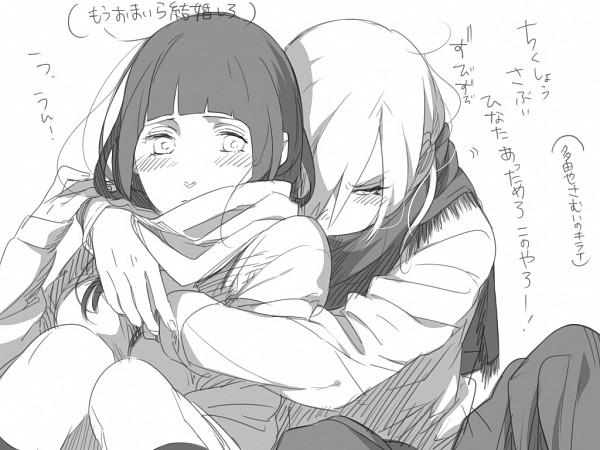 Tags: Anime, Kazari Tayu, NARUTO, Tayuya, Hyuuga Hinata, Fanart, Wallpaper, TayuHina