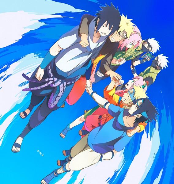 Tags: Anime, Min Tosu, NARUTO, NARUTO: SHIPPŪDEN, Uzumaki Naruto, Haruno Sakura, Hatake Kakashi, Uchiha Sasuke, Pixiv, Fanart, Fanart From Pixiv, Team 7