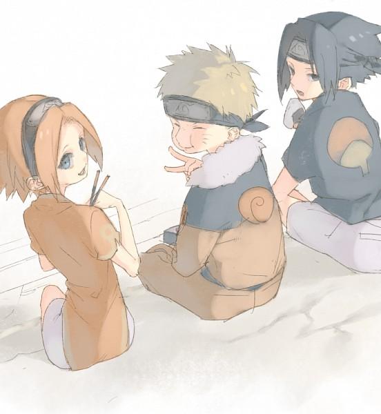 Tags: Anime, Hana (Pixiv63727), NARUTO, Uzumaki Naruto, Haruno Sakura, Uchiha Sasuke, Fanart From Pixiv, Pixiv, Fanart, Team 7