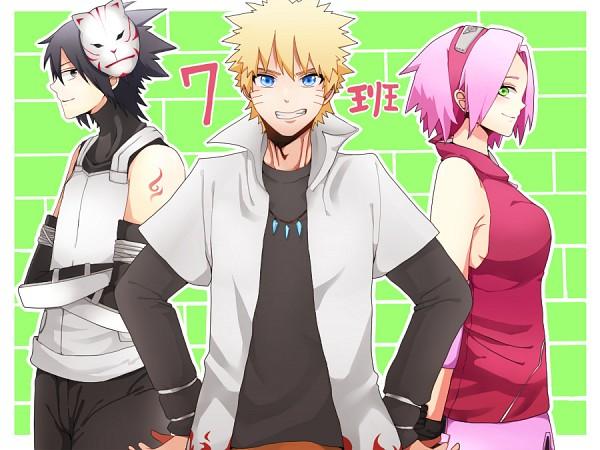 Tags: Anime, Pixiv Id 6790715, NARUTO, Uchiha Sasuke, Uzumaki Naruto, Haruno Sakura, Anbu, Pixiv, Fanart, Fanart From Pixiv, Team 7