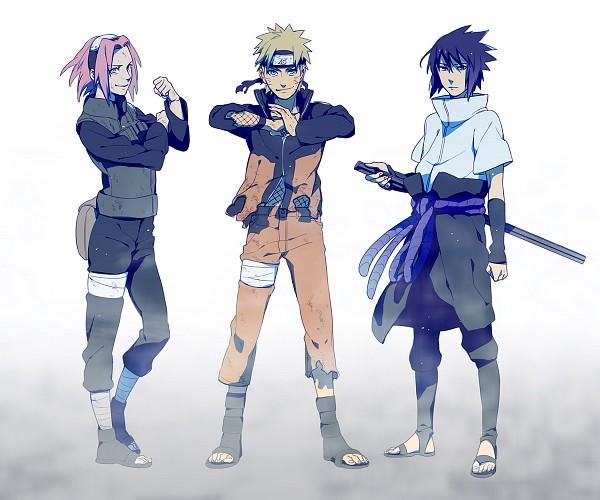 Tags: Anime, Sensei97, NARUTO, Haruno Sakura, Uchiha Sasuke, Uzumaki Naruto, Fog, Pixiv, Fanart, Fanart From Pixiv, Team 7