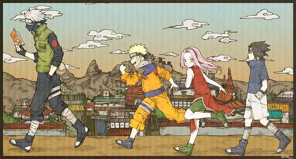 Tags: Anime, Pixiv Id 1748198, NARUTO, Uchiha Sasuke, Uzumaki Naruto, Haruno Sakura, Hatake Kakashi, Fanart, Fanart From Pixiv, Pixiv, Wallpaper, Facebook Cover, Team 7