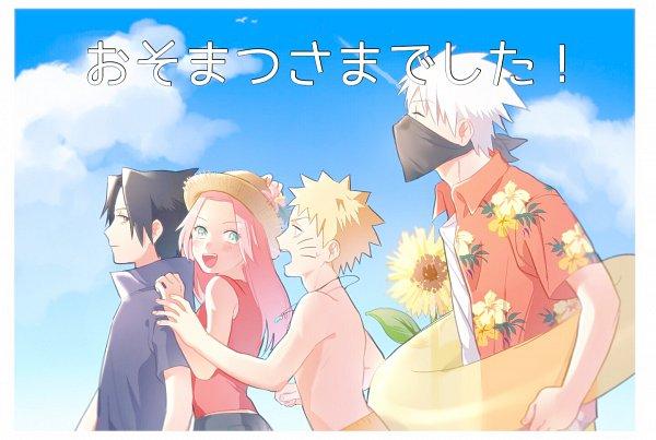 Tags: Anime, Pixiv Id 31730634, NARUTO, Uzumaki Naruto, Haruno Sakura, Hatake Kakashi, Uchiha Sasuke, Fanart From Pixiv, Pixiv, Fanart, Team 7